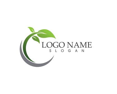 vecteur de conception de logo icône feuille nature