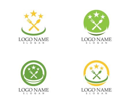 Restaurant logo design vector illustration