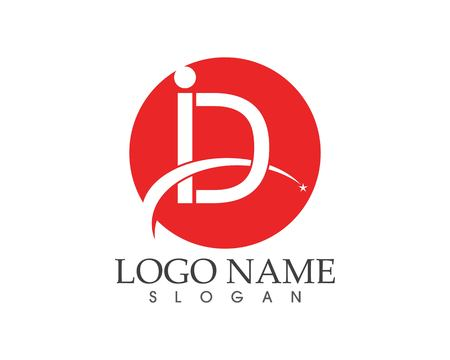 i D letter business logo design concept