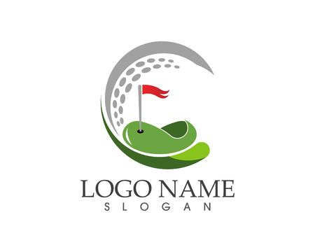 Golf icon logo design vector illustration Illusztráció