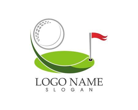 Golf icon logo design vector illustration 矢量图像