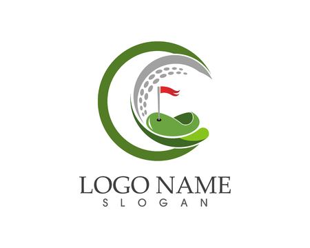 Golf icon logo design vector illustration 向量圖像