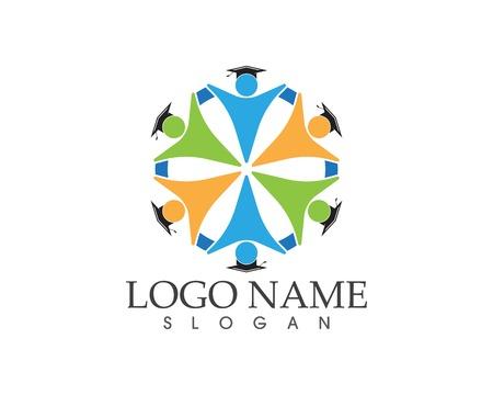 Education people logo design vector template Illustration