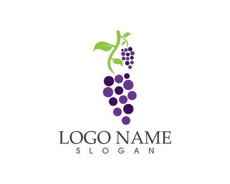 Grape fruit icon sign logo Logo