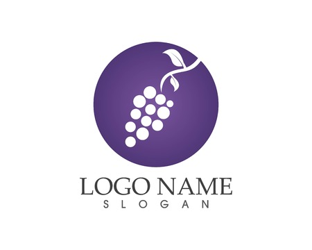 Grape fruit icon sign logo