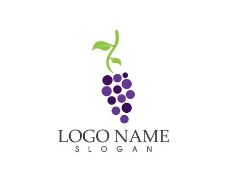 Grape fruit icon sign logo