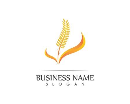 Rice wheat icon sign logo Иллюстрация