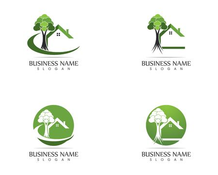 Building home nature logo design Banque d'images - 110695138