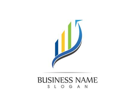 Business finance logo - vector concept illustration 矢量图像