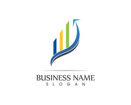 Business finance logo - vector concept illustration Illustration