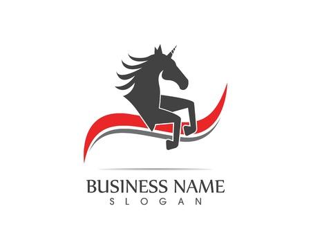 Vettore del modello di logo del cavallo Logo