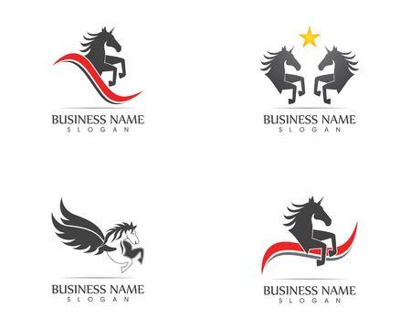 Vettore del modello di logo del cavallo