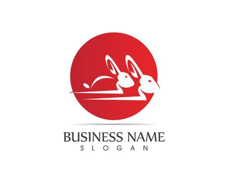 Rabbit Logo template vector icon design Vettoriali