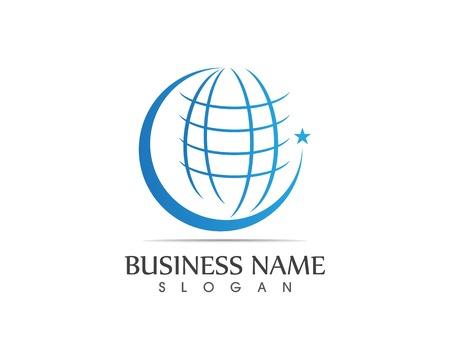 Global line business icon logo Illustration