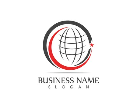 Global line business icon logo 일러스트