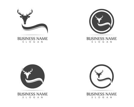 Ilustración de vector de logo de cabeza de ciervo Logos