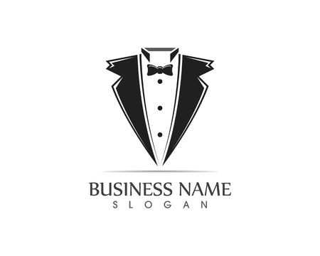 Tuxedo logo design template Stock Illustratie