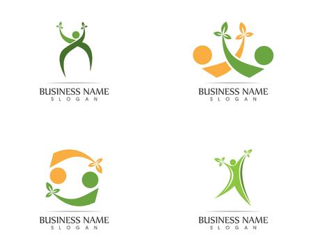 Health people leaf logo design illustration Foto de archivo - 111159839