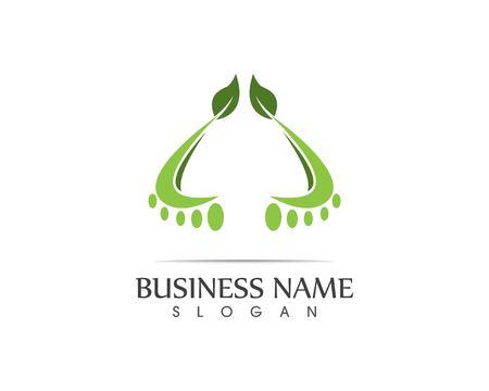 Ilustracja projektu logo liścia natury