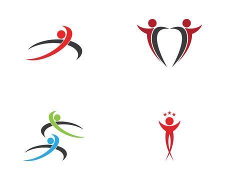 Health people care logo design vector illustration