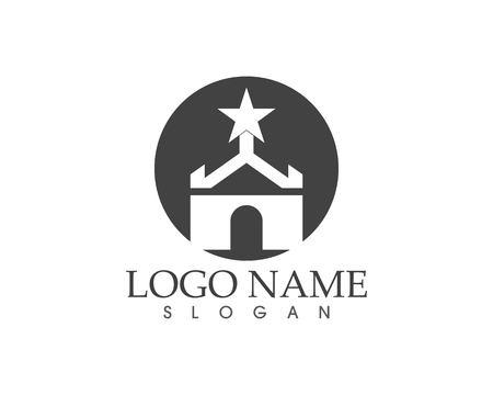 Castle logo template Standard-Bild - 111226610