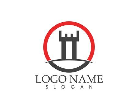 Castle logo template Stock Illustratie