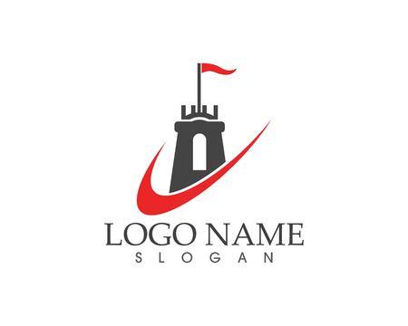 Castle logo template Standard-Bild - 111226466