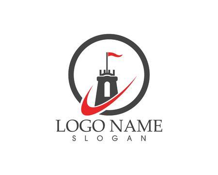 Castle logo template Standard-Bild - 111226463