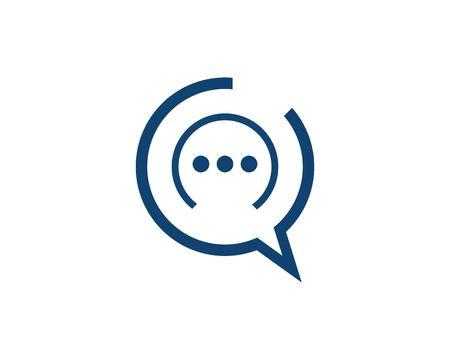 Chat icon logo design template