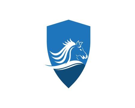 Horse logo design vector template Logo