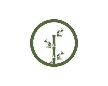 Bamboo leaf icon logo vector Illustration