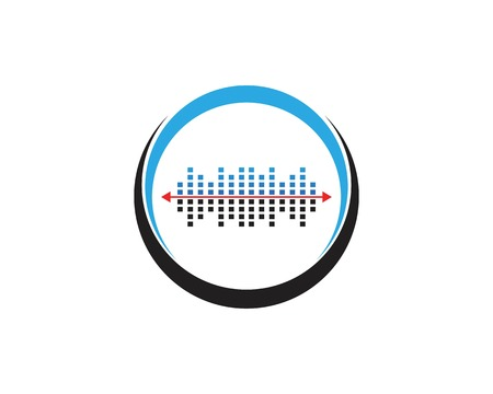 wave music icon logo template 스톡 콘텐츠 - 112053891