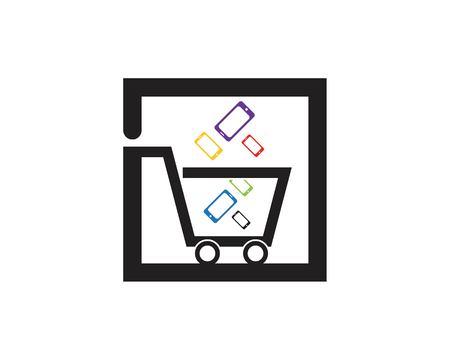 Phone shop icon logo template Illustration