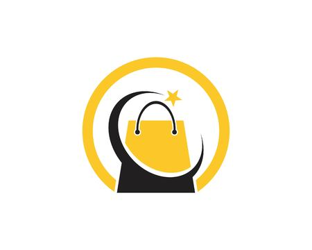 Bag shopping icon logo template