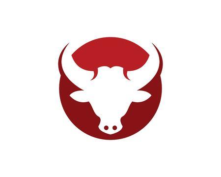 Bull head icon logo vector template
