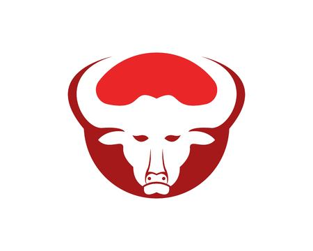 Bull head icon logo vector template Ilustrace