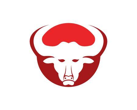 Bull head icon logo vector template Illustration