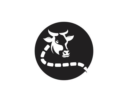 Cow head icon logo vector template