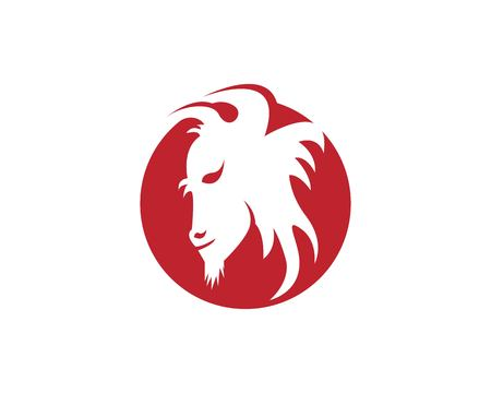 Buffalo head icon logo vector template 向量圖像