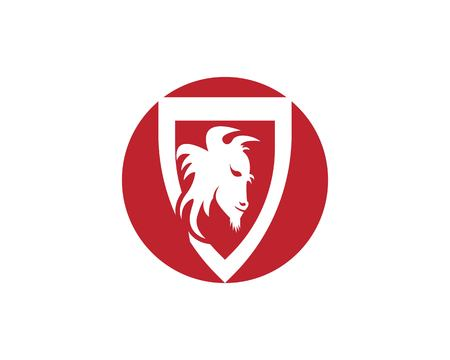 Buffalo head icon logo vector template Illustration