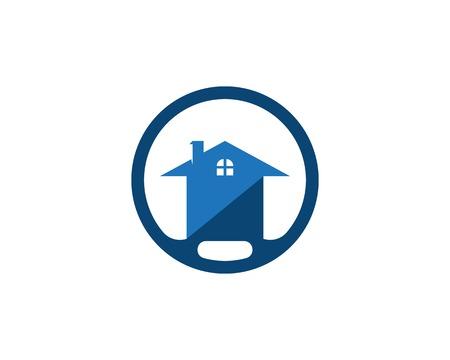 Modèle de logo de maison de construction