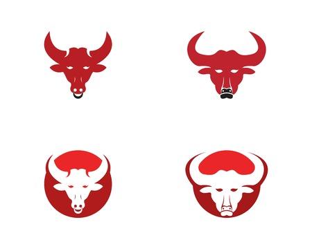 Bull head icon logo template