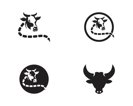Cow head logo  vector template 일러스트