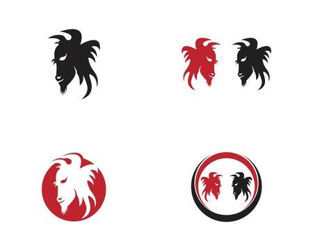Buffalo head icon logo vector template 向量圖像