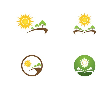 Nature tree icon logo vector template