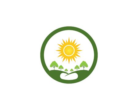 Nature tree logo vector template Stock Vector - 112117622