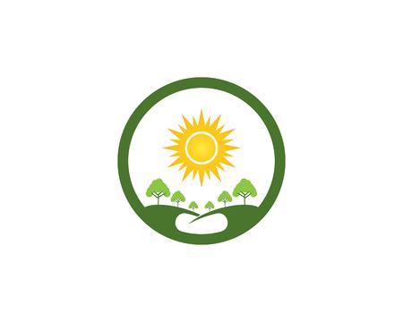 Nature tree logo vector template Illustration