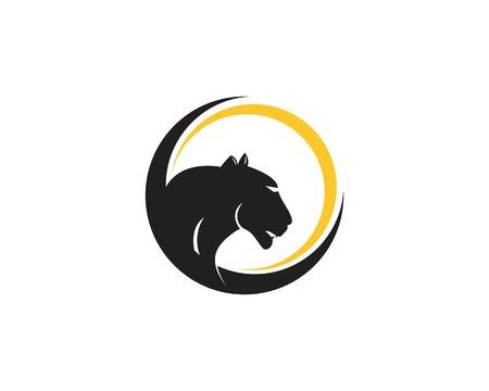 Plantilla de vector de logo de cabeza de puma Logos