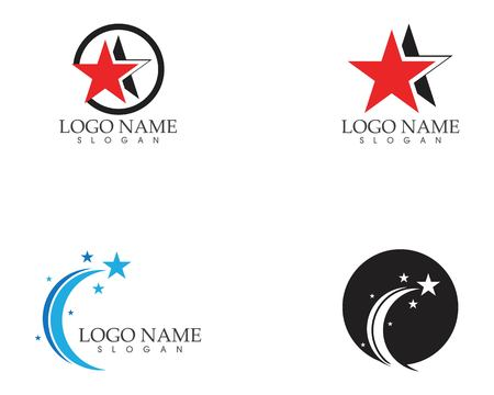 Star icon logo vector template