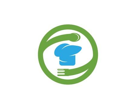 Hat chef icon logo vector template